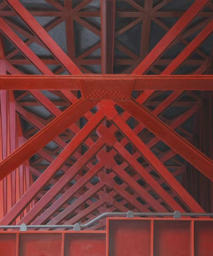 no title (red bridge, Sengsandaekyo, Seoul) , 120 x 100 cm, 2010
